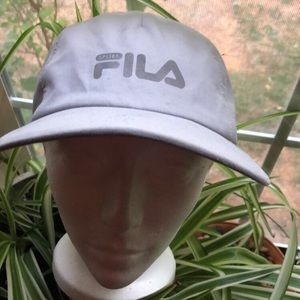 Women's fila gray adjustable hat